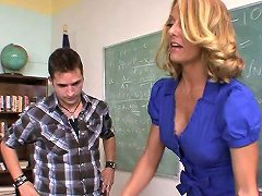 Horny Teacher Brenda James Showing A Student How To Fuck