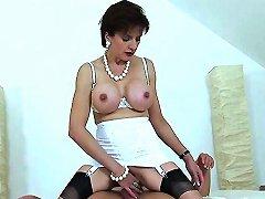 Unfaithful English MILF Gill Ellis Exposes Her Oversized Titties