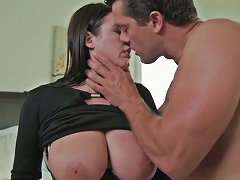 Fat Massive Cock Stretches Soaking Meaty Pussy Of Lovely Angela White