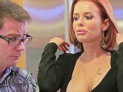 A Redhead Milf Gets Banged On Table In A Kitchen