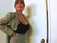 Hot Big Tit Redhead Milf Slut Saleswoman Fucks Client's Hard Dick