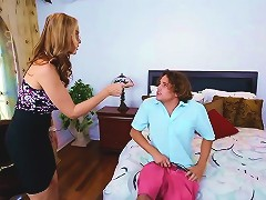 Stepson Fucking With Busty Mature Stepmom And Sexy Teen Maid