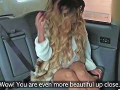 Fake Taxi Creampie For Rimming Tanned Babe With Tiny
