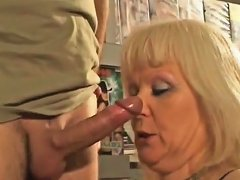 French Blonde Mature Fucked At The Sex Shop Txxx Com