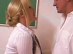 Mature Blond With Enormous Breasts Screwed By Student In