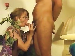 French Milf Sucks His Cock And Gets Fucked On A Leather