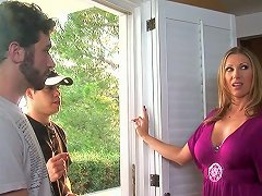 A Mature Babe Hires A Handyman And Ends Up On His Dick